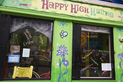 Happy High Herbs shop in San Francisco Royalty Free Stock Photography