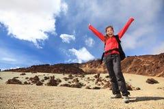 Happy hiker royalty free stock image