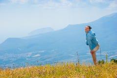 Happy hiker Royalty Free Stock Photo