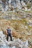 Happy hiker Stock Photos