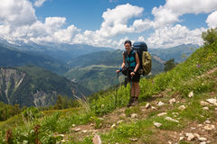 Happy hiker. Stock Photography