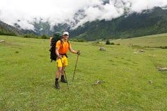 Happy hiker. Stock Photos