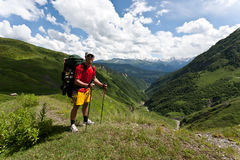 Happy hiker. Royalty Free Stock Photo