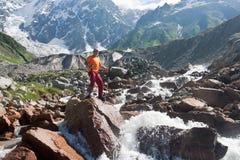 Happy hiker. Stock Image