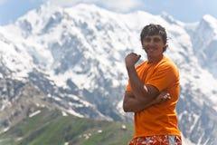 Happy hiker. Royalty Free Stock Image