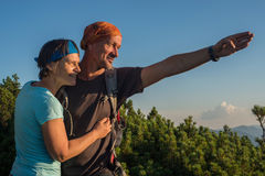 Happy hiker's couple Royalty Free Stock Photography