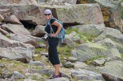 Happy Hiker Stock Image