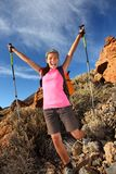 Happy hiking success Stock Image