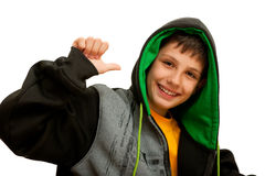 Happy hip-hop dancer Stock Photos