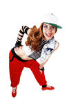 Happy hip hop woman. Royalty Free Stock Images
