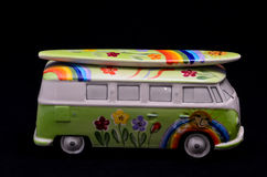 Happy Hippie Bus Stock Photography