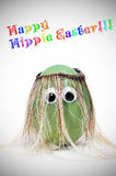 Happy hippie easter Royalty Free Stock Photography