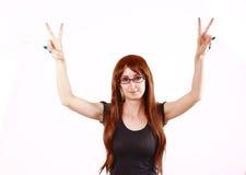 Happy Hippie Girl Royalty Free Stock Photo