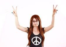 Happy Hippie Girl Stock Photography