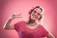 Happy hippie Stock Image