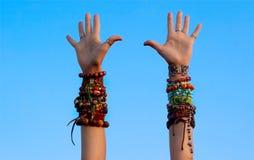 Happy hippie Stock Images