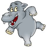 Happy Hippo Royalty Free Stock Images