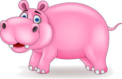 Happy hippo cartoon Stock Photography