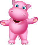 Happy hippo cartoon for you design royalty free illustration