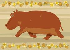 Happy hippo Royalty Free Stock Photography