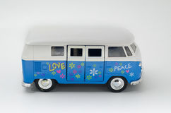 Happy hippy bus peace and love Royalty Free Stock Photo