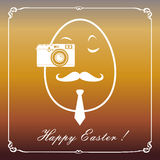 Happy hipster easter egg card Royalty Free Stock Image