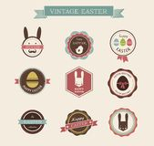 Happy Hipster Easter - set of icons and elements Royalty Free Stock Photography