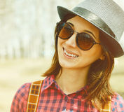 Happy hipster girl Royalty Free Stock Photography
