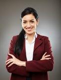 Happy hispanic businesswoman Stock Photography
