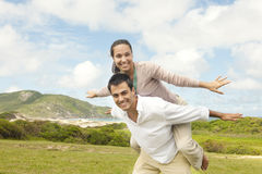 Happy hispanic couple in love Stock Photos