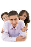 Happy hispanic family portrait smiling together. This image has attached release Royalty Free Stock Photo