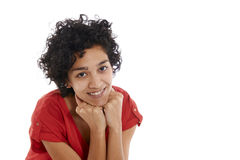 Happy hispanic girl smiling confident at camera royalty free stock image
