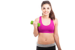 Happy Hispanic girl working out Royalty Free Stock Image