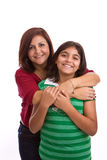 Happy Hispanic mother and daughter. Stock Image
