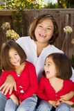 Happy Hispanic mother and her daughter. Stock Photo