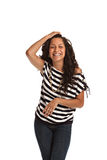Happy Hispanic Teenager Casual Dressed Stock Image