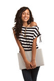 Happy Hispanic Teenager Casual Dressed Student Stock Photography