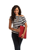 Happy Hispanic Teenager Casual Dressed Student Stock Images