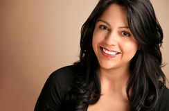 Happy Hispanic Woman. Portrait of Happy Hispanic Woman Smiling Royalty Free Stock Images