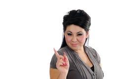Happy hispanic woman pointing Royalty Free Stock Photos