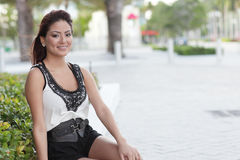 Happy Hispanic woman smiling Royalty Free Stock Photo