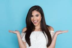 Happy Hispanic Woman stock image