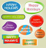 Happy hoidays. Happy holidays - collection of vector icons Stock Images