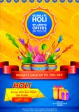 Happy Holi Advertisement Promotional backgroundd for Festival of Colors celebration greetings Royalty Free Stock Photos