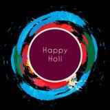 Happy holi around colorful splashes Royalty Free Stock Photography