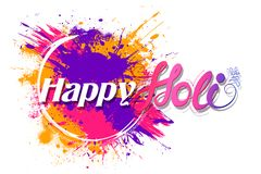 Happy Holi background for color festival of India celebration greetings Stock Images