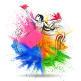 Happy Holi background for color festival of India celebration greetings Stock Photos