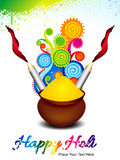 Happy holi background with explode magical wave Royalty Free Stock Photography
