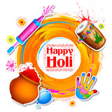 Happy Holi Background for Festival of Colors celebration greetings. Illustration of colorful Happy Holi Background for Festival of Colors celebration greetings Royalty Free Stock Photo