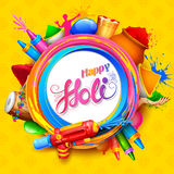 Happy Holi Background for Festival of Colors celebration greetings Royalty Free Stock Photo